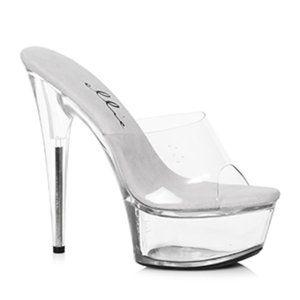 """Ellie 609-Vanity 6"""" Pointed Stiletto Mule Shoe  9"""